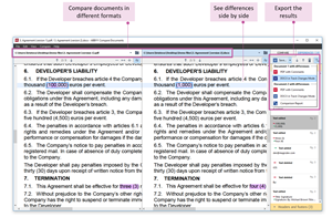 Compare documents and track changes from multiple formats.