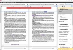 Ermitteln Sie Unterschiede zwischen einem gescannten PDF und dessen ursprünglicher Word-Version.