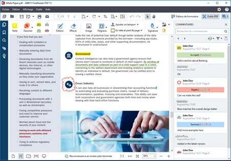 ABBYY Finereader PDF, collaborate on and approve PDFs