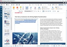 Edit PDFs almost like a Word document and rewrite text paragraphs, edit the content in tables, or rearrange the layout.