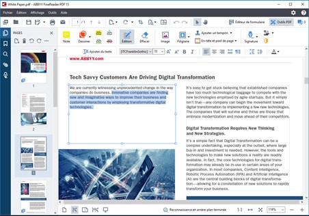 ABBYY Finereader PDF, create, edit, and organize PDFs
