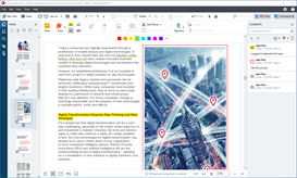 Comment on, mark up and annotate PDFs